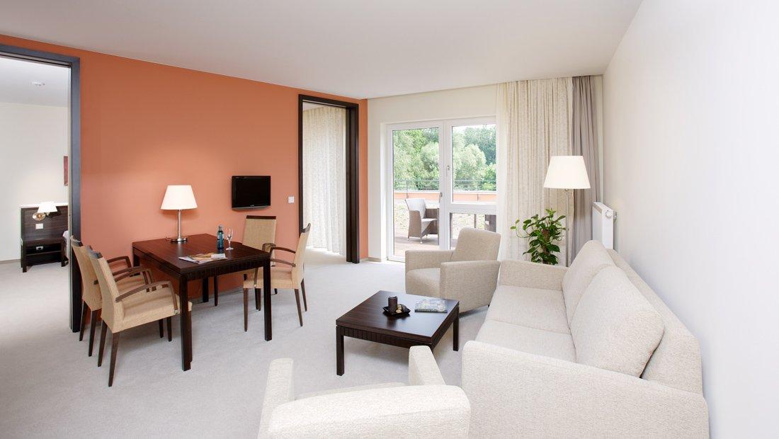 Suite Wohnbereich Hotel Heide SPA Bad Dueben