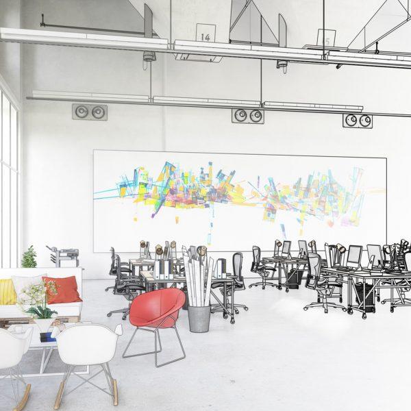 Großraumbüro Skizze   Unternehmen