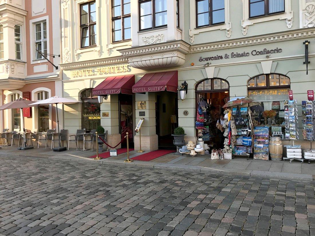 Eingangsbereich Hotel Suitess Dresden