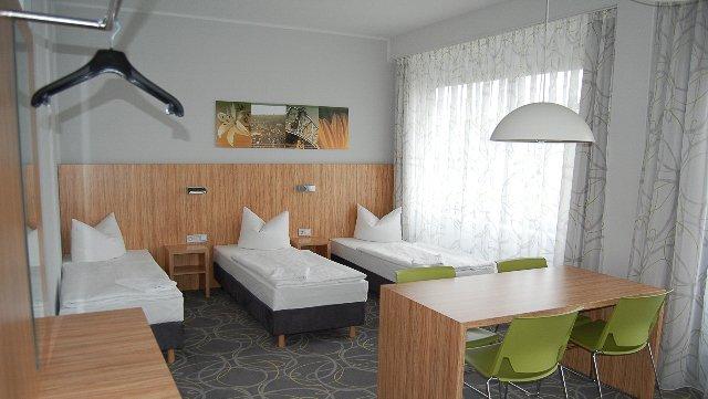 Dreibettzimmer in der Cityherberge Dresden