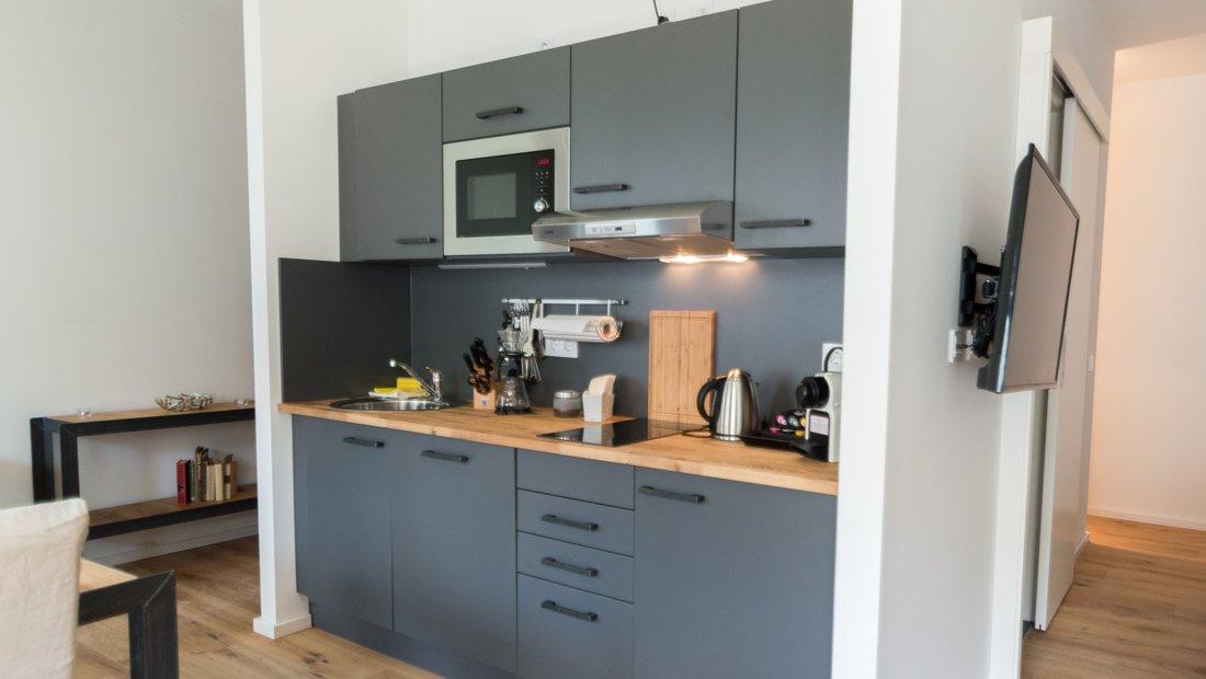 Küche im Lebendigen Haus in Dresden