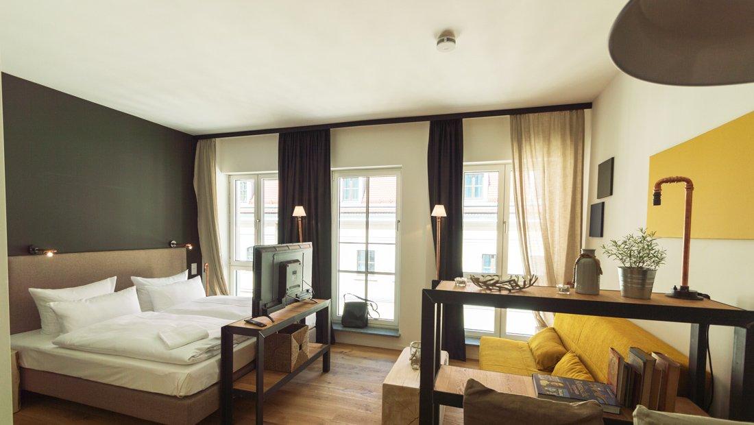 Wohn und Schlafbereich im Lebendigen Haus in Dresden