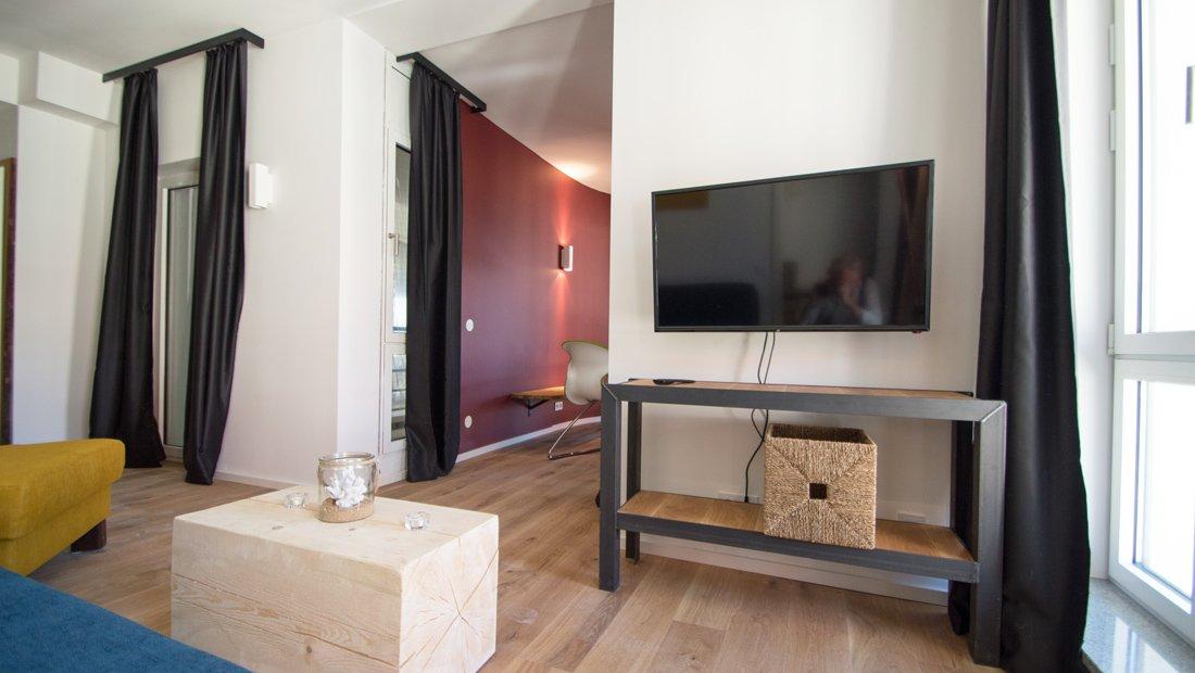 Wohnbereich mit Sitzecke im Lebendigen Haus in Dresden