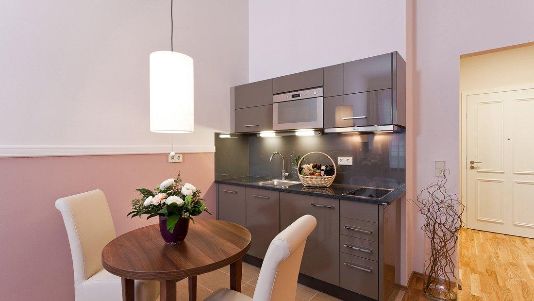 Küchen und Essbereich Aparthotel am Schloss Dresden