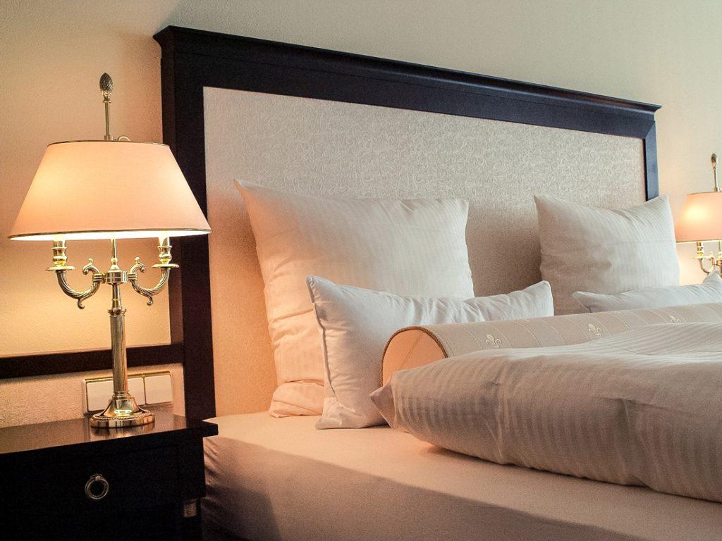 Detailaufnahme des Schlafzimmer im Hotel Suitess Dresden