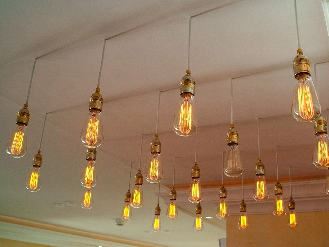 Detailaufnahme Lampe Hotel Suitess in Dresden.