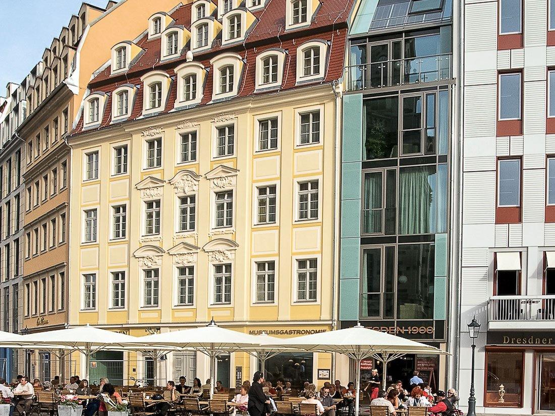 Aussenansicht Aparthotel an der Frauenkirche Dresden