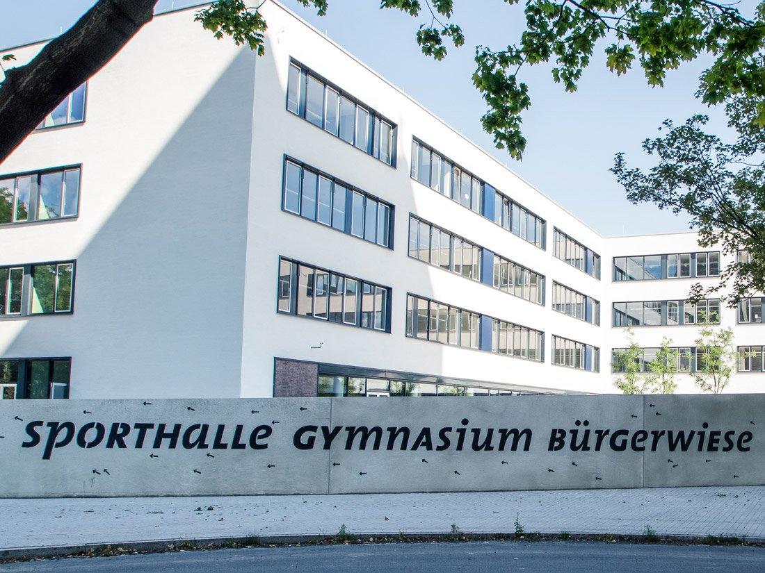 Aussenansicht Gymnasium Bürgerwiese in Dresden