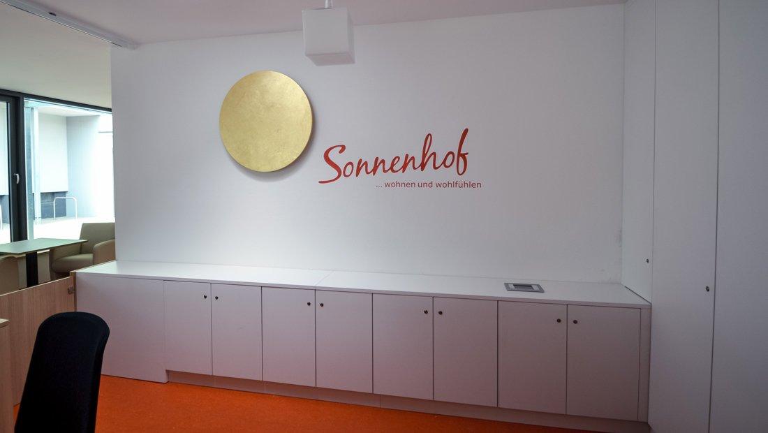 Detailaufnahme Emfpang Begegnungstätte Sonnenhof