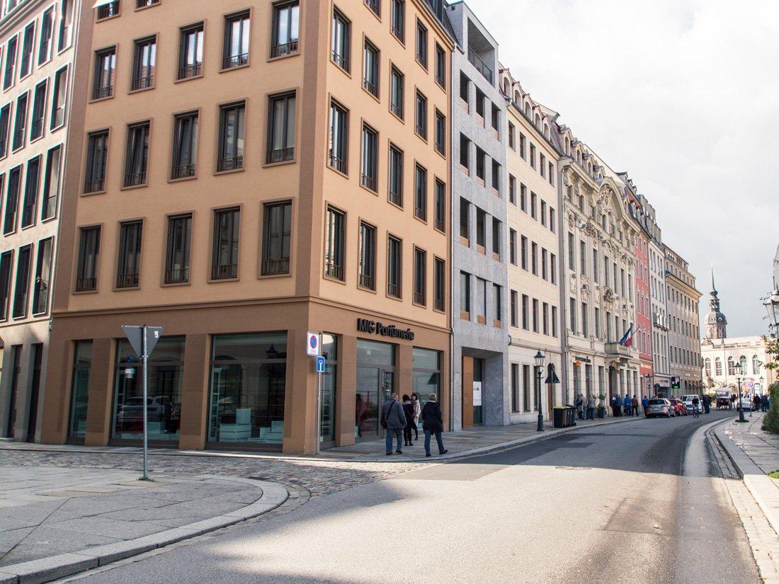 Aussenansicht des Aparthotels Frieseneck in Dresden.