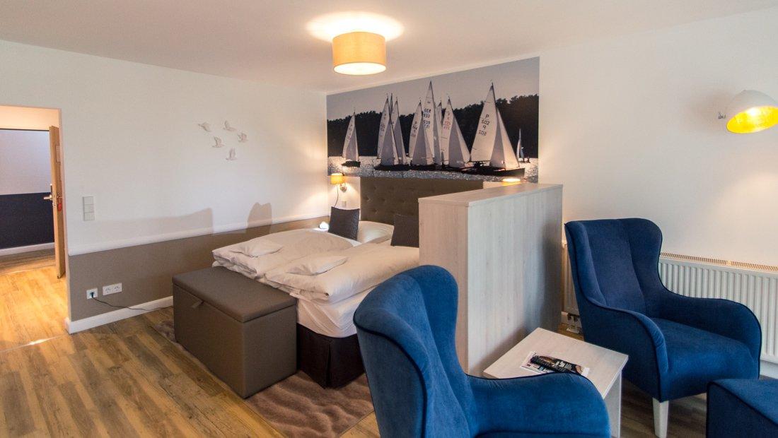 Wohn und Schlafbereich Aparthotel Victoria Bad Saarow