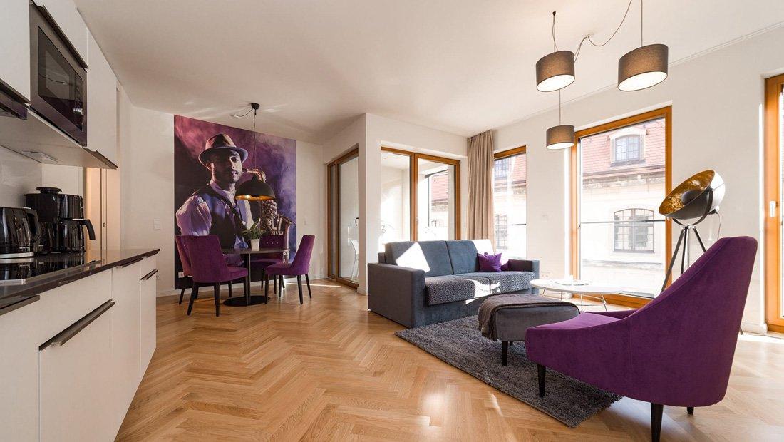 Wohnbereich Aparthotel Frieseneck