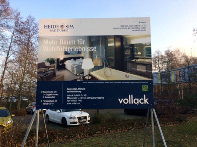Bautafel Erweiterung Hotel Heide SPA Bad Düben