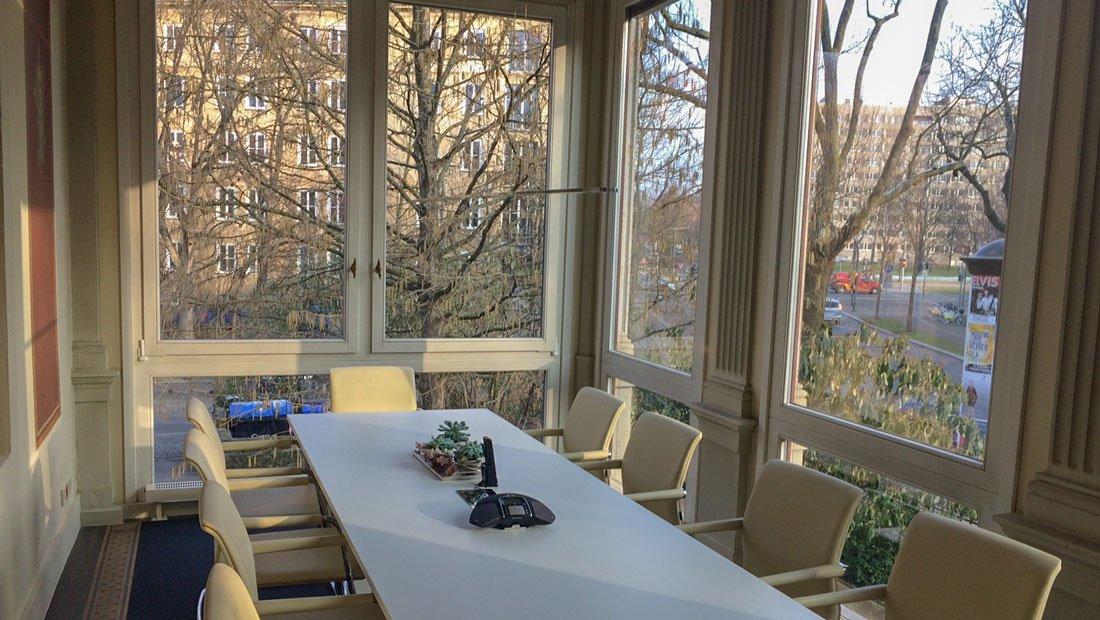 Konferenzraum der Imvent Gruppe Dresden.