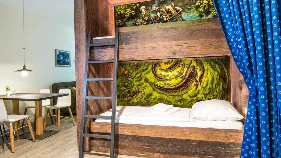 Schlafbereich-Kinder-Hotel-Spreewelten