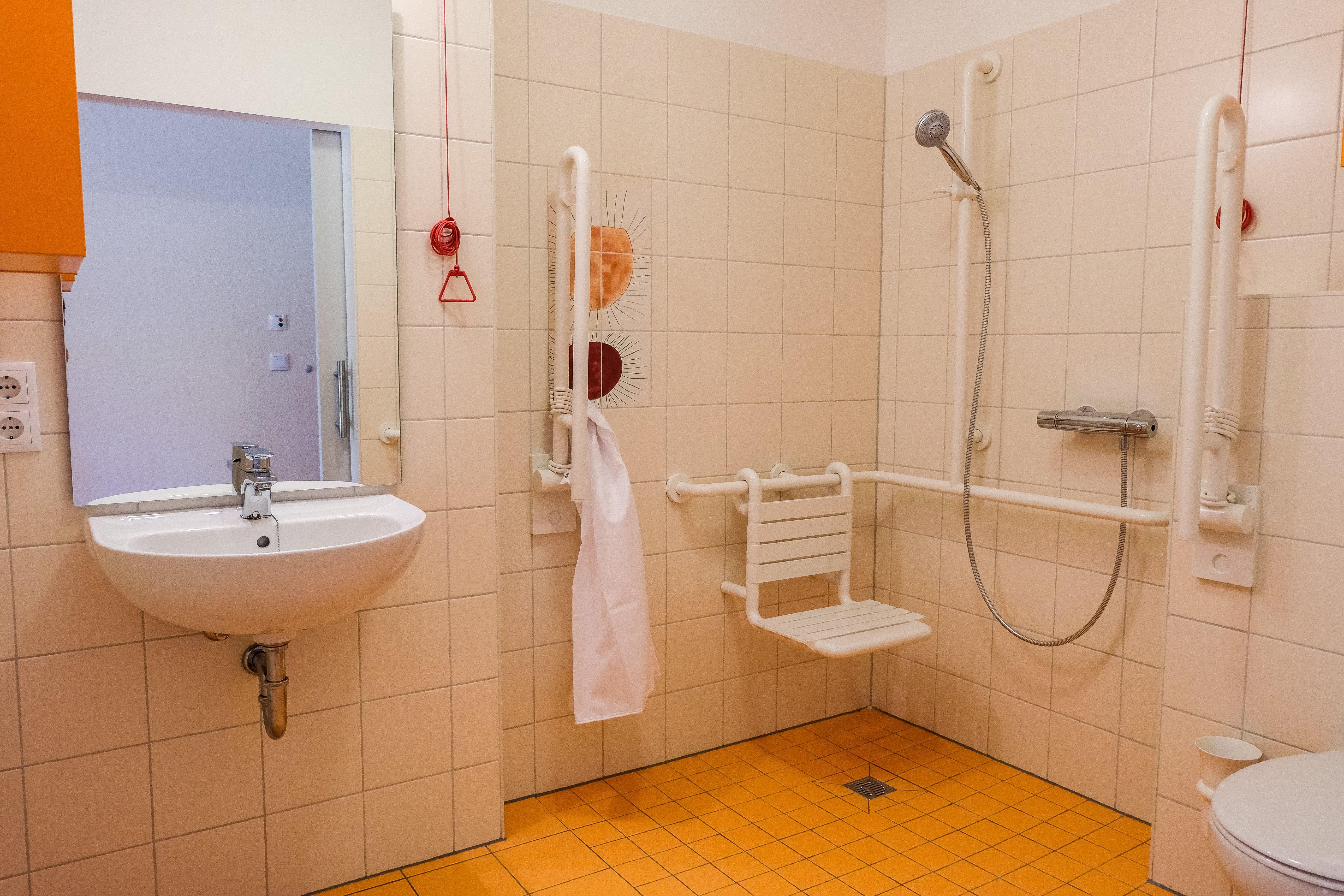 Badezimmer des Martinshof Rothenburg.
