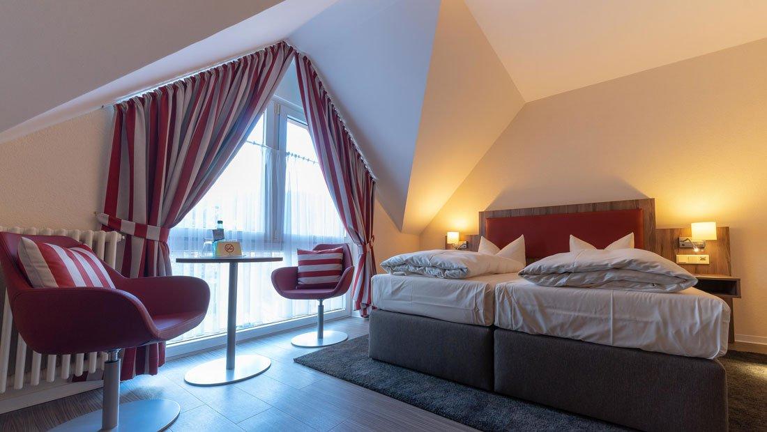 Ansicht des Doppelzimmers im Hotel Knorre Meißen.
